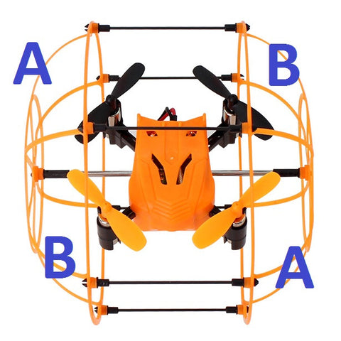 sky walker mini cage quadcopter instructions
