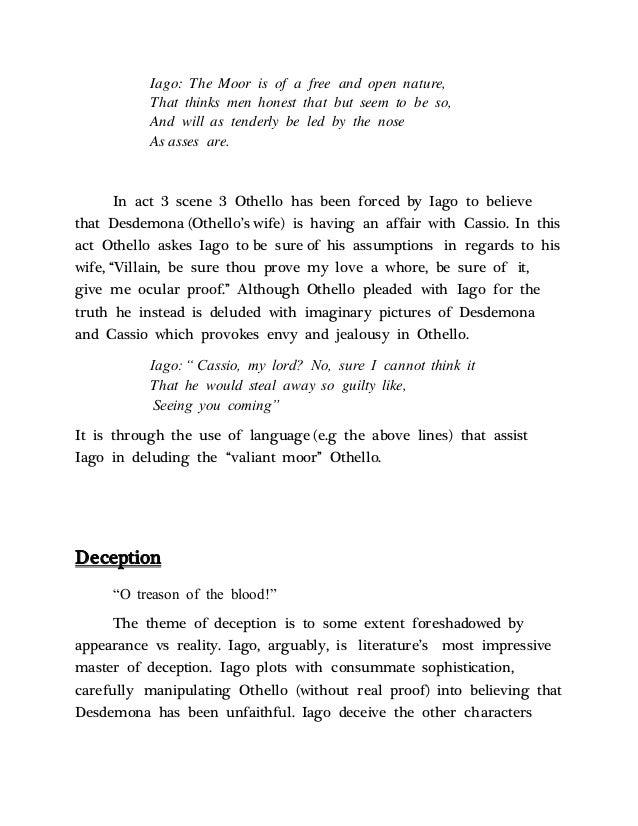 Othello themes appearance vs reality pdf