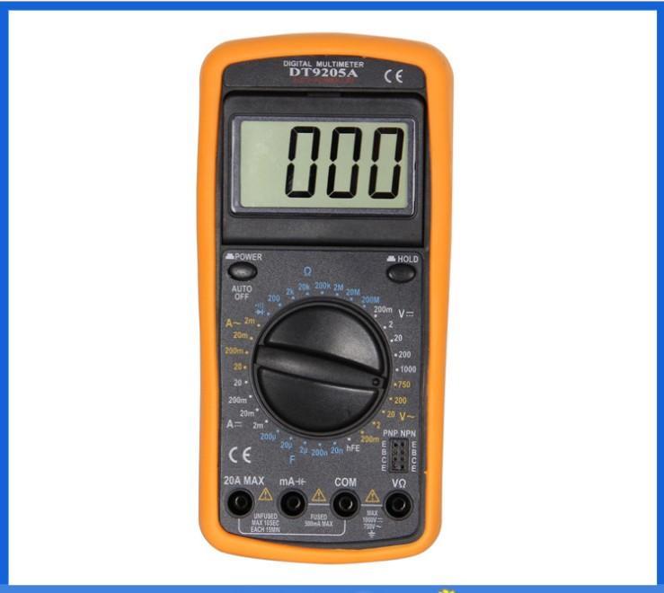 digital multimeter dt9205a manual pdf