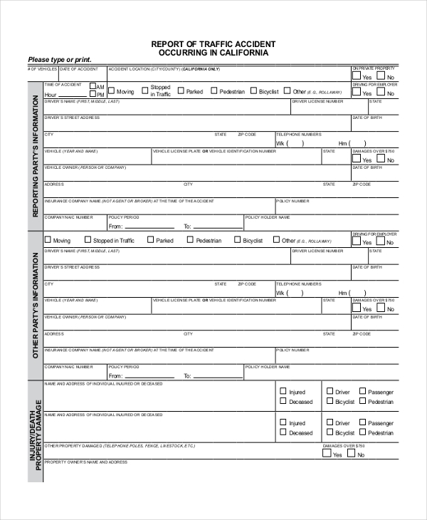 Oregon dmv accident report form pdf