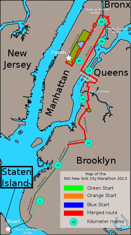 New york marathon map pdf