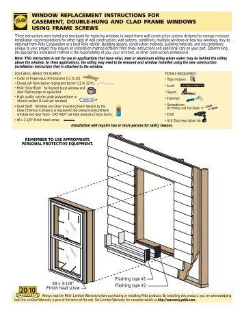 casement window installation instructions