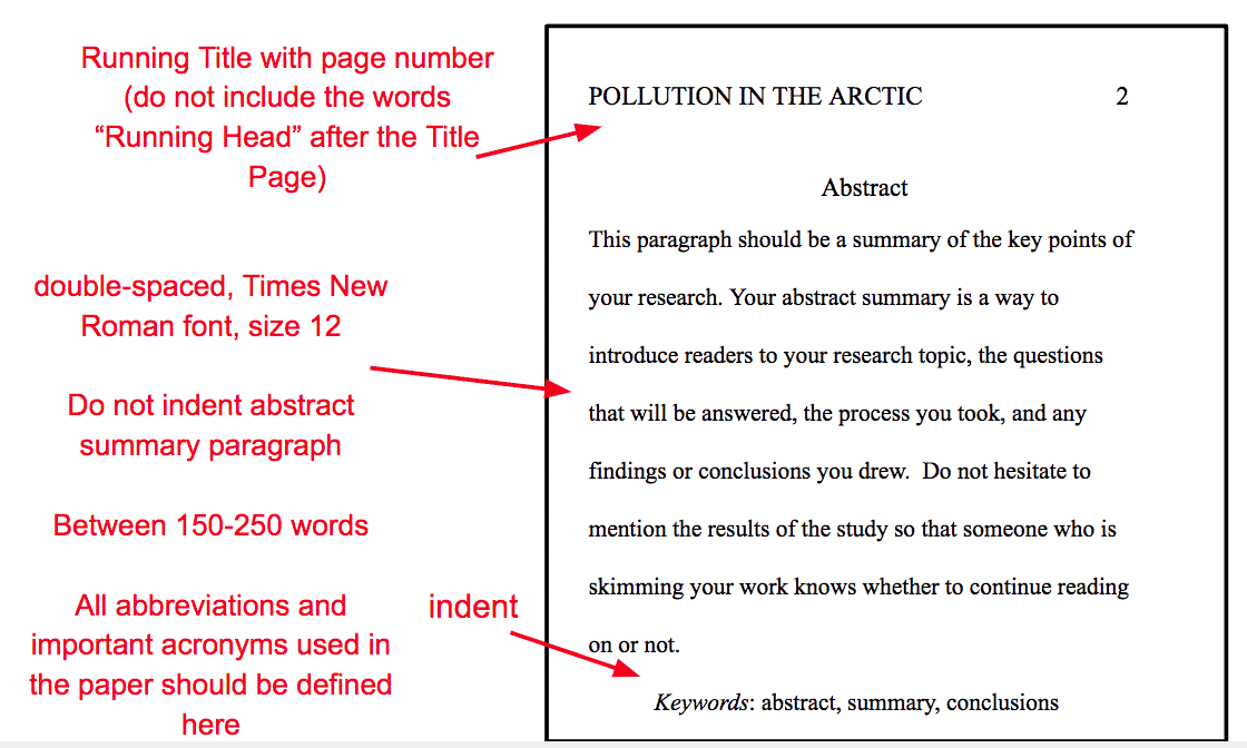 Apa guidelines for research paper