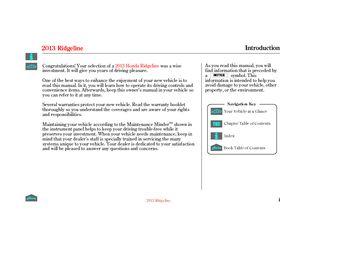 Honda ridgeline owners manual pdf
