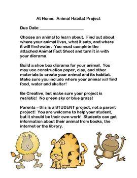 Animal habitat diorama instructions