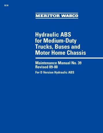 meritor disc brake service manual