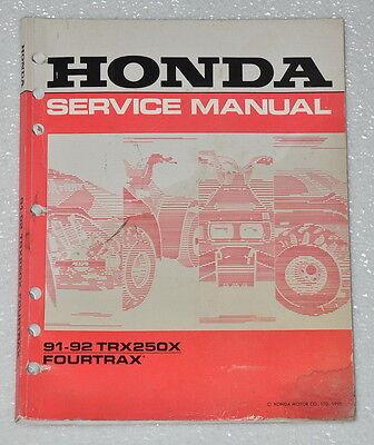 1992 honda fourtrax 300 service manual