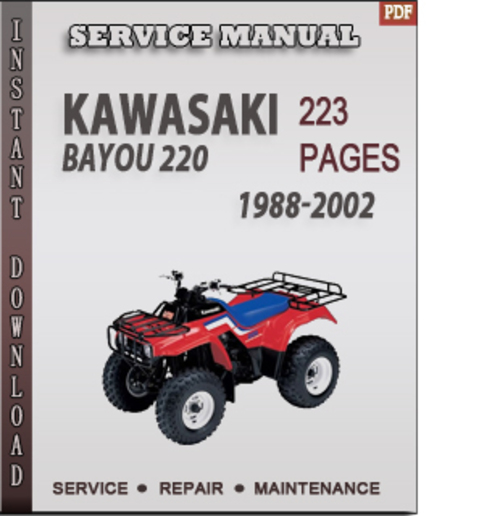 2000 kawasaki bayou 220 manual