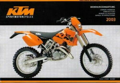 2002 ktm 125 sx service manual download