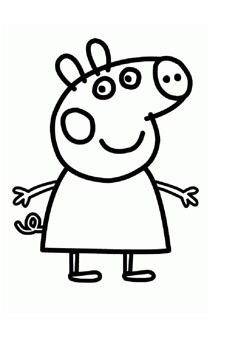 Peppa pig coloring sheets pdf
