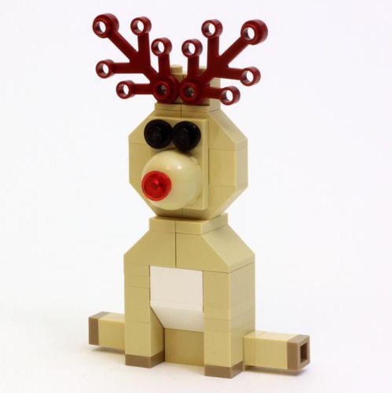 lego reindeer instructions mini build