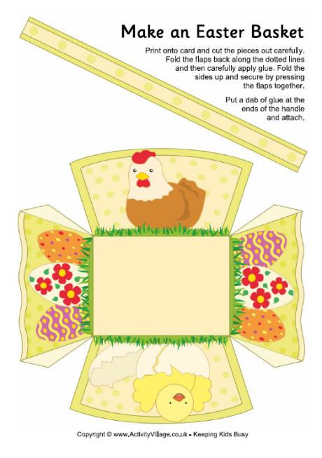 Easter egg basket template pdf