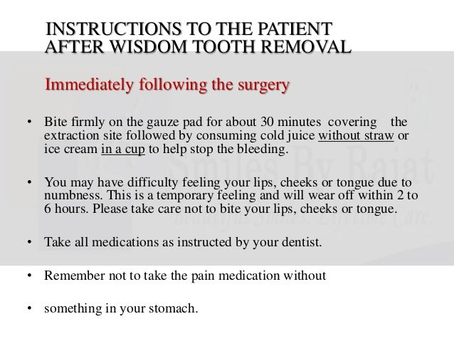 instructions after wisdom tooth extraction