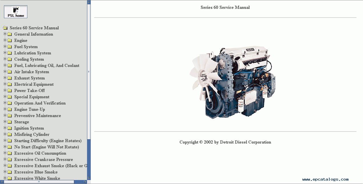 Detroit 60 series repair manual