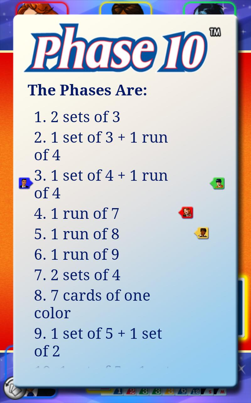 phase 10 rules instructions