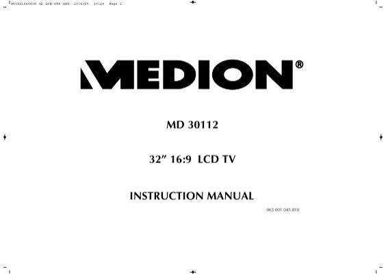 instruction manual for medion md 84510