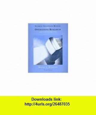 operations research solution manual by wayne l winston pdf