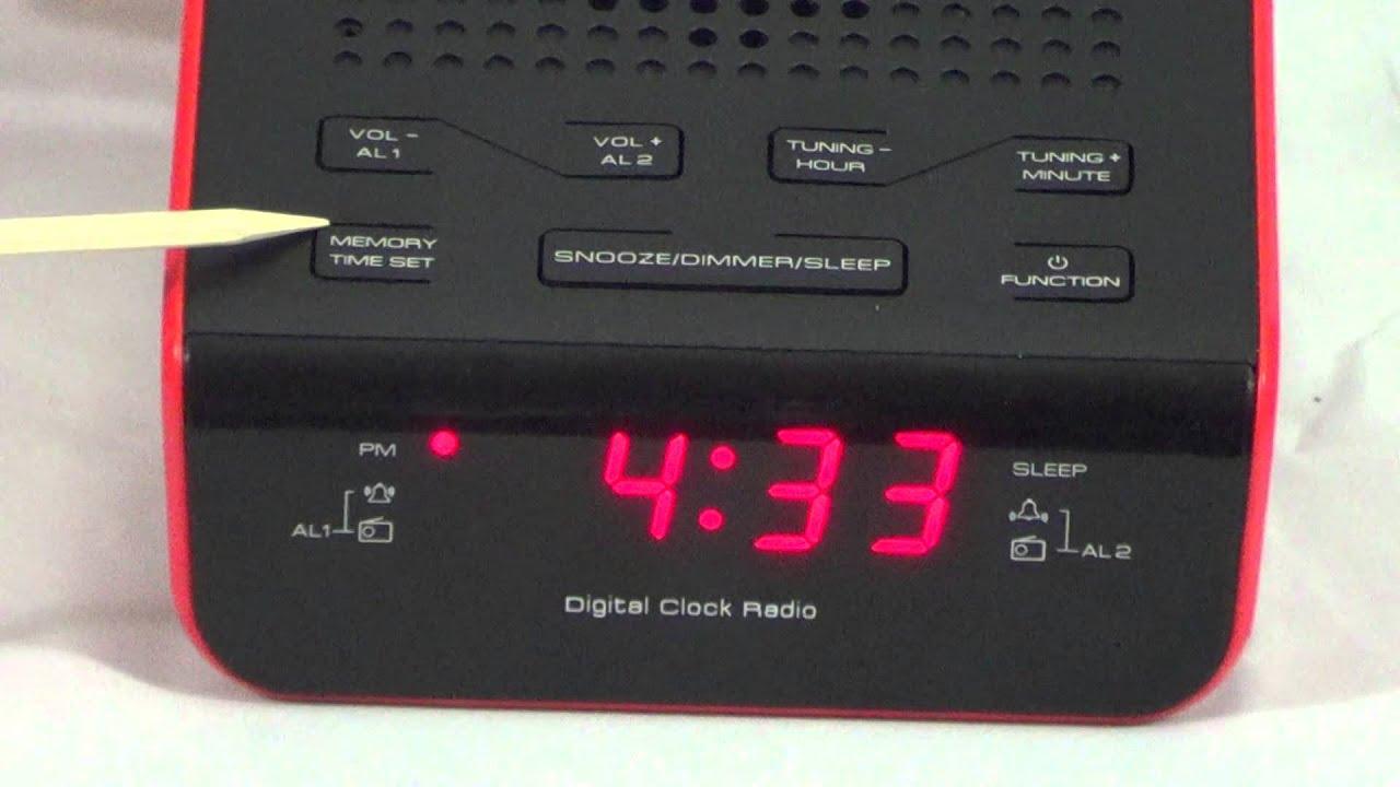groove alarm clock radio instructions