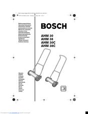 Bosch ahm 38g assembly instructions