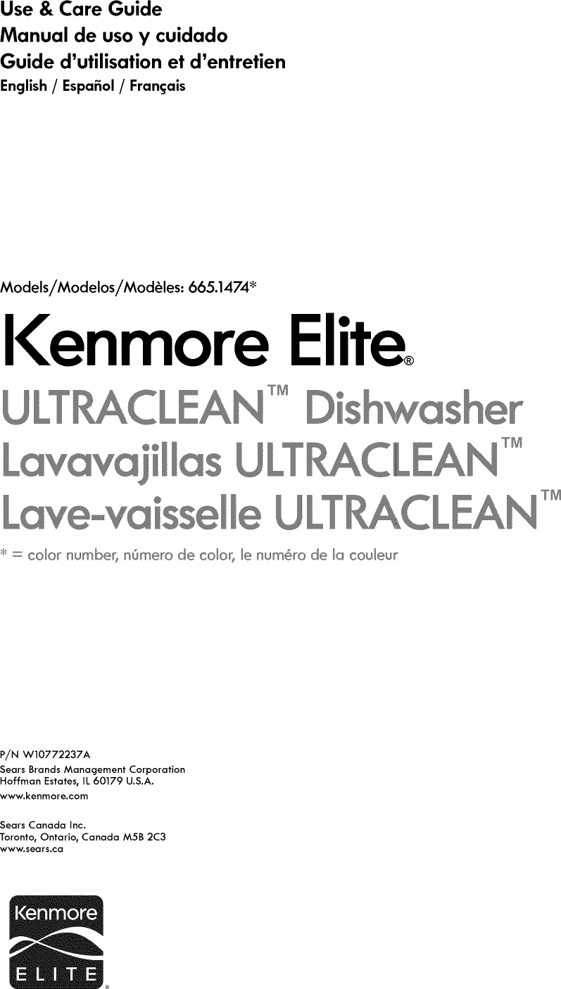 kenmore elite dishwasher manual pdf