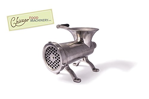 Stainless steel manual meat grinder