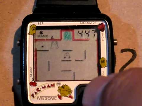 nelsonic pac man watch instructions