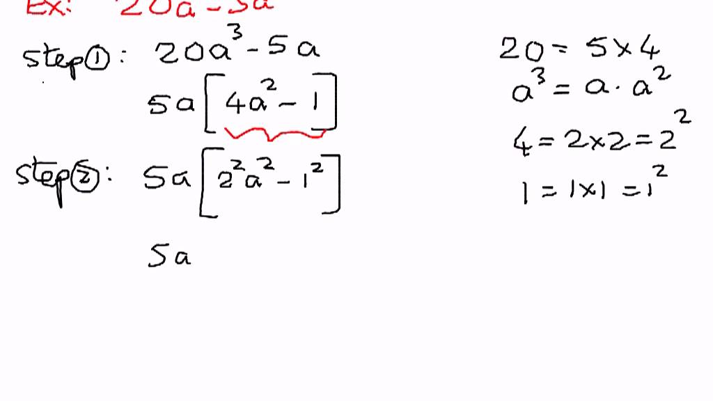 Example difference of two squares