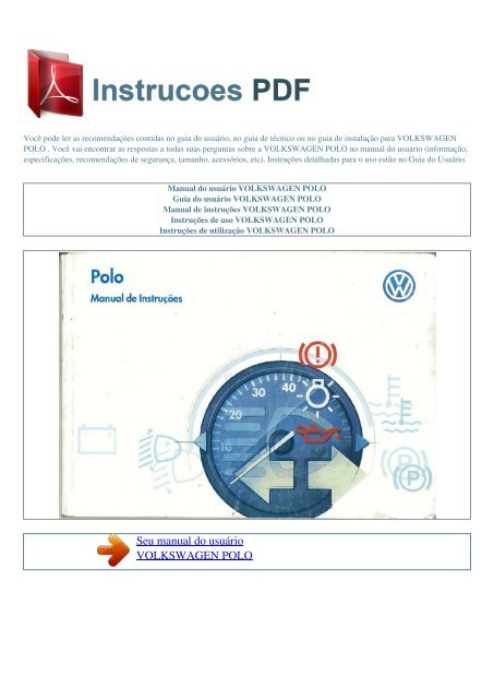 manual usuario vw amarok pdf