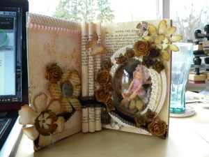 Altered book how to cut out cover
