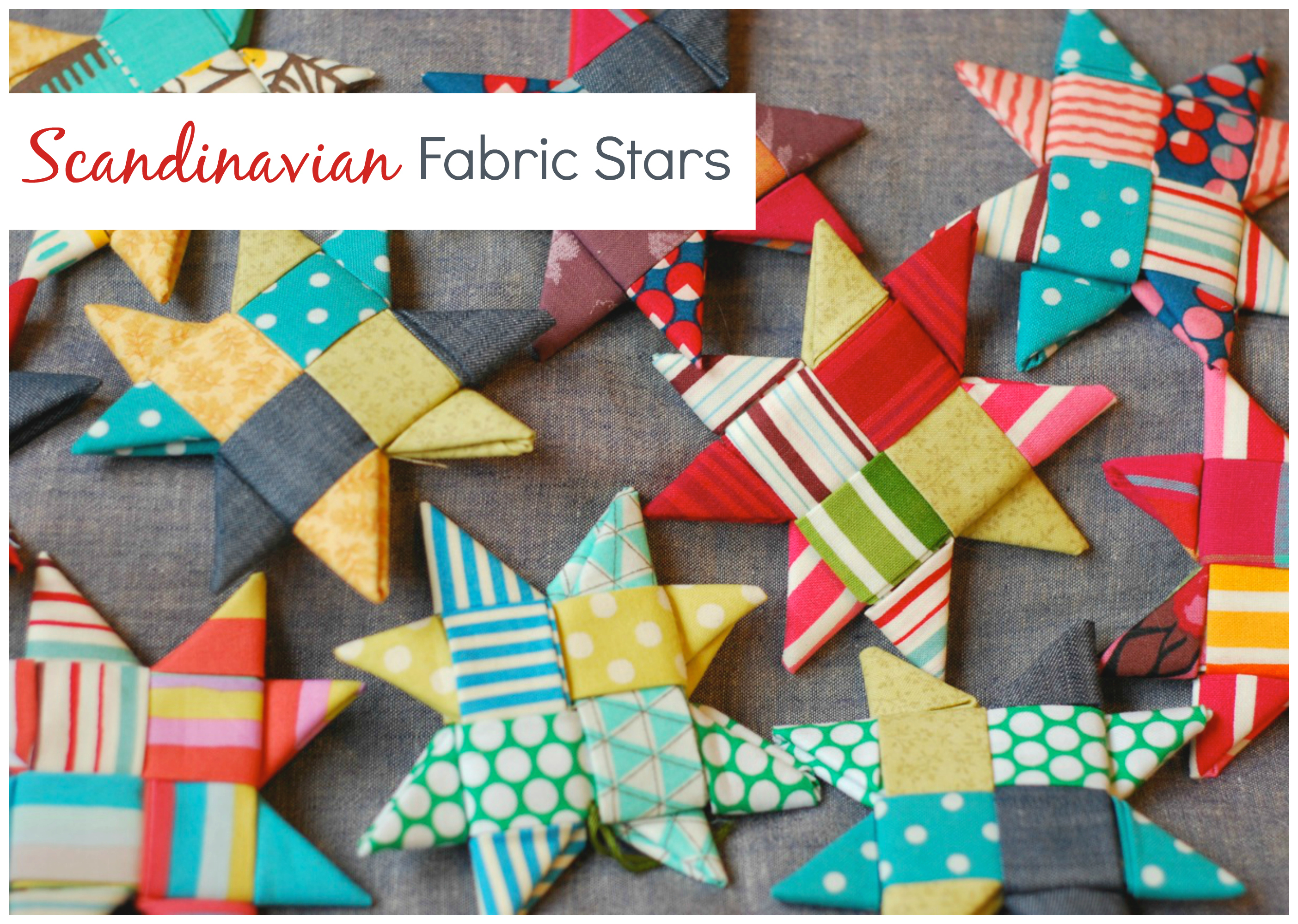 Scandinavian fabric stars instructions