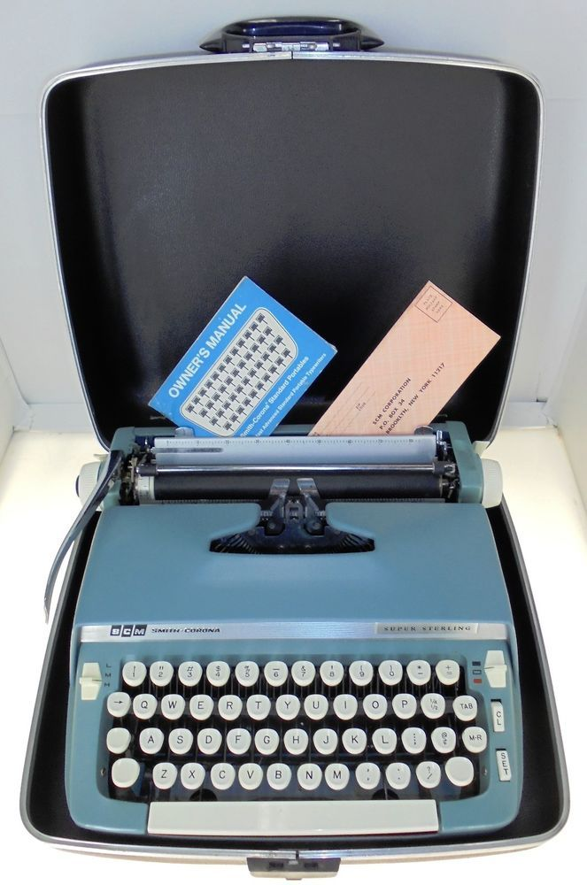 smith corona sterling typewriter manual