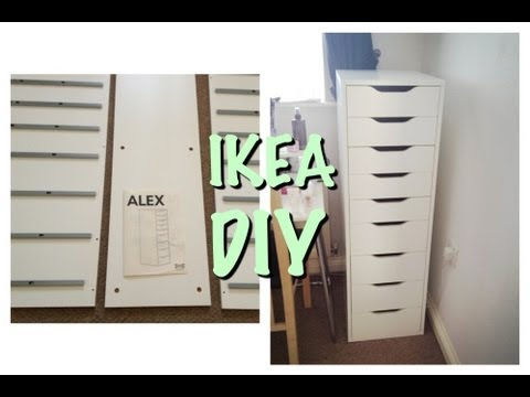 ikea alex 9 drawer instructions