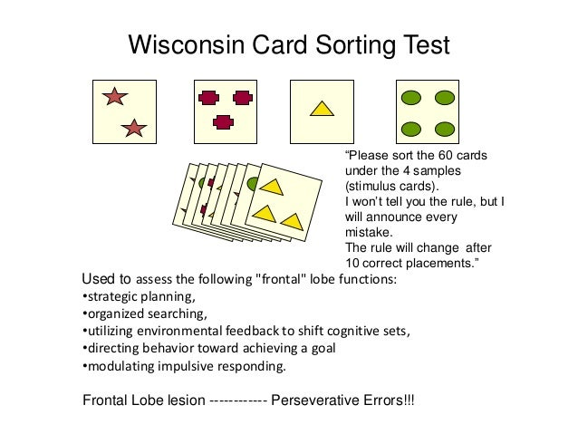 Wisconsin card sorting test pdf