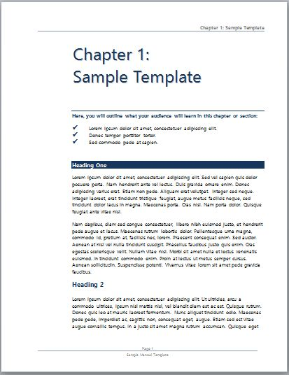 how to create a training manual in word