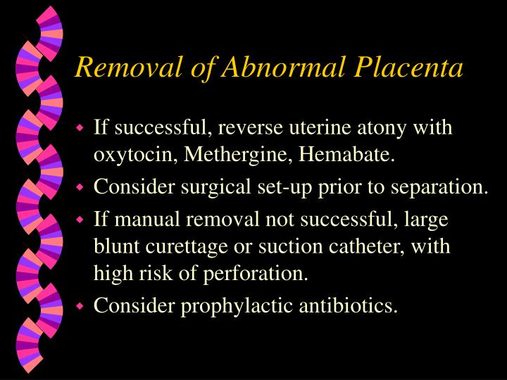 manual removal of placenta ppt