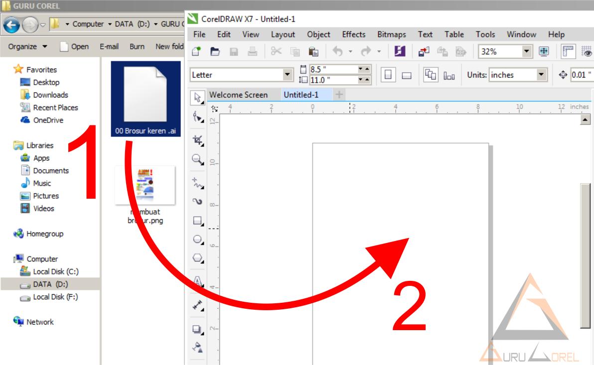 Transfer pdf to eps file