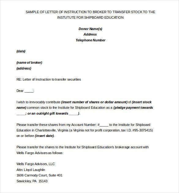 medium of instruction letter template