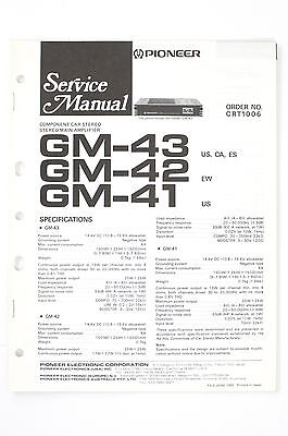pioneer gm 3300t service manual