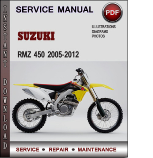 2012 suzuki rmz 250 service manual