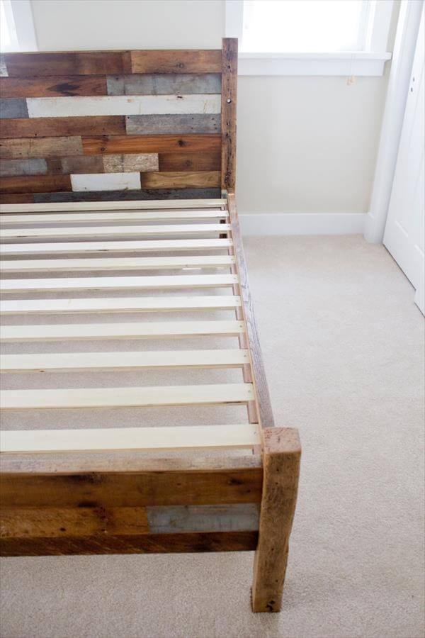 pallet queen bed frame instructions