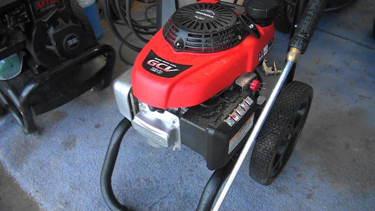 Honda gcv160 power washer manual