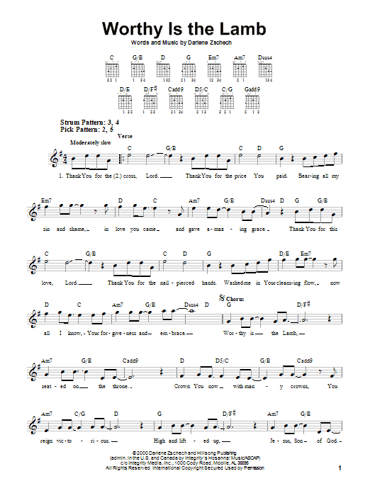 Lion and the lamb chords pdf