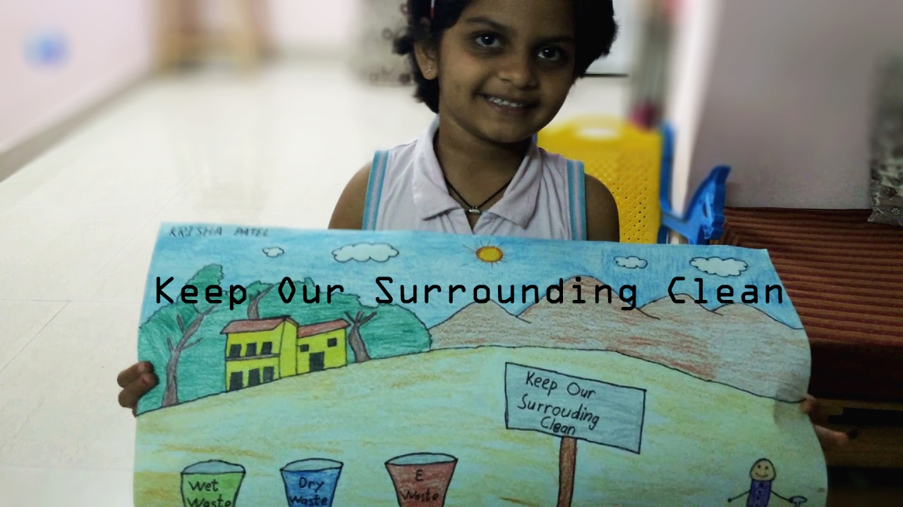 Kids diorama on how to keep water clean