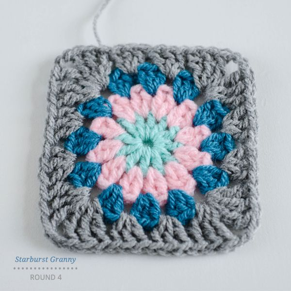 Starburst granny square instructions