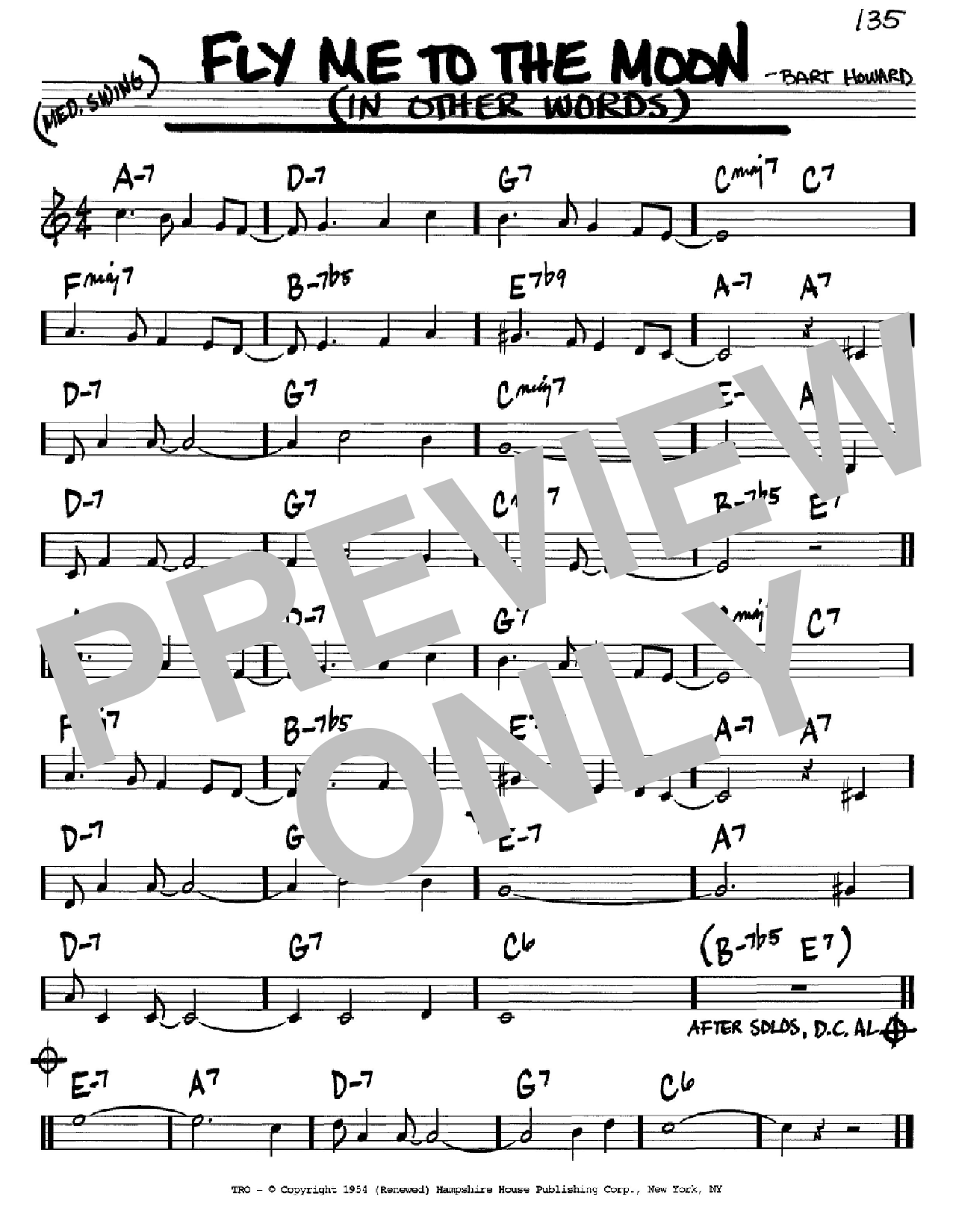 Fly me to the moon chords pdf