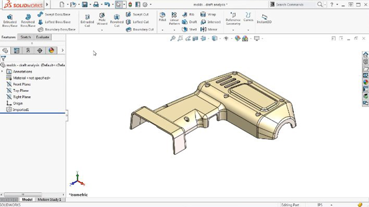 solidworks surface modeling training manual