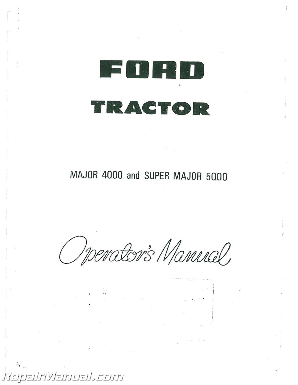 Fordson super major repair manual