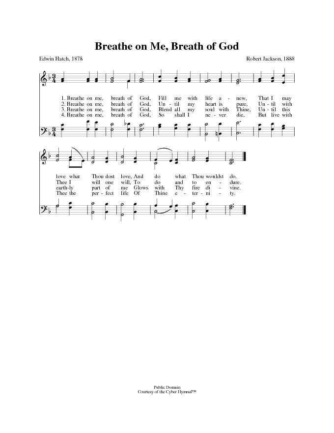Breathe on me breath of god chords pdf