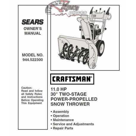 sears craftsman automatic drive snowblower manual