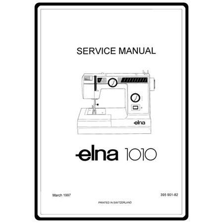 Elna 1010 sewing machine instruction manual